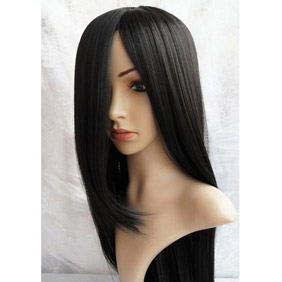 Black Enma-Ai ·Kikyou Long Straight Nylon Cosplay Wig