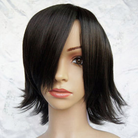 Black Pandora heart Cheshire Short Nylon Cosplay Wig