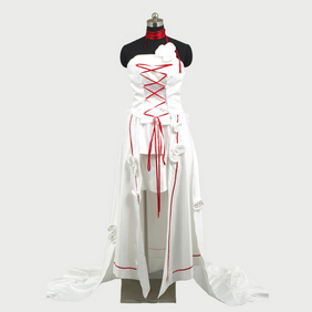 Pandora Hearts Alice white Rabbit Dress Cosplay Costume