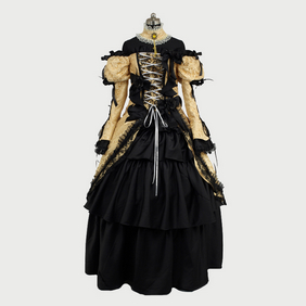 VOCALOID2 KagaMine Rin Full Dress Cosplay Costume