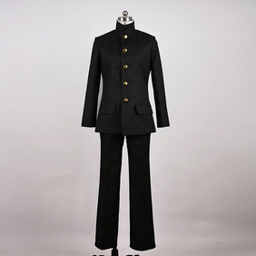 Black suit male Uniform Cosplay Costume