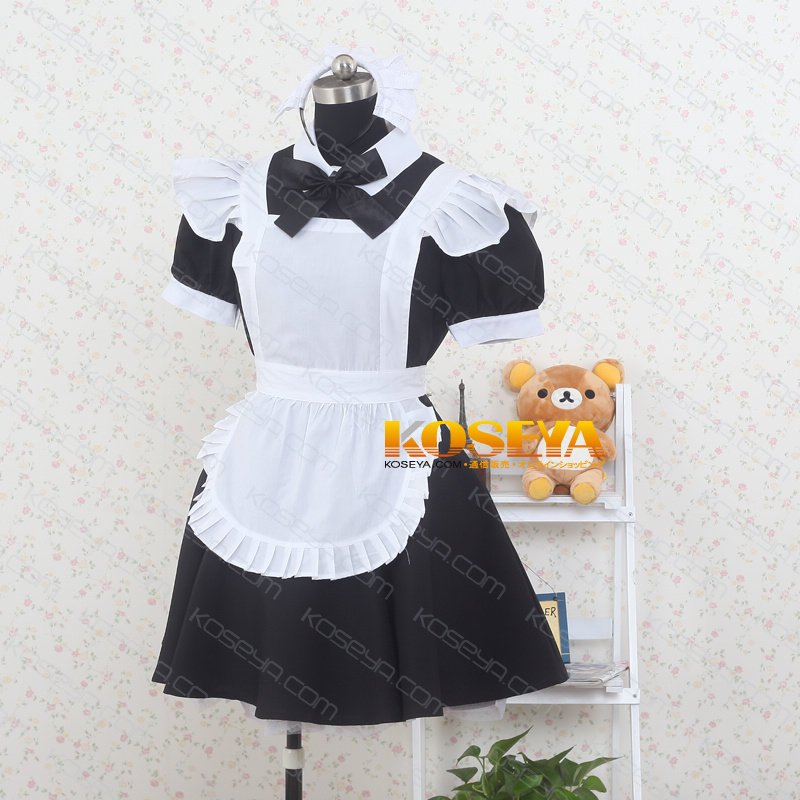 Maid Costume Mini Skirt Black Cosplay Costume