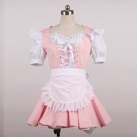 Maid Costume Mini Skirt pink Cosplay Costume