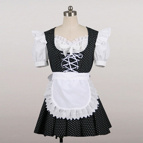 Maid Costume Mini Skirt dot Cosplay Costume