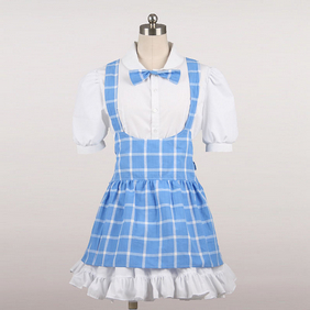 Maid Costume Mini Skirt blue Cosplay Costume