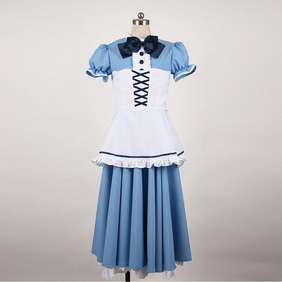 Maid Costume Blue Cosplay Costume