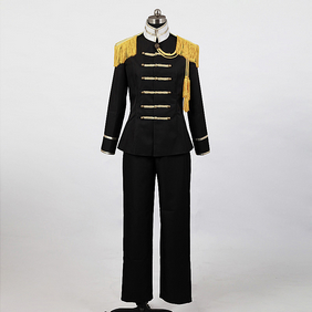 Axis Powers Hetalia Japan military Uniform 3 Black Cosplay Costume