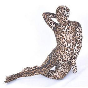 Sexy Velours Leopard  Lycra Female  Zentai Suit
