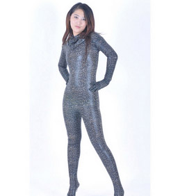 Sexy Metallic Snake Knitted Fabric Female Zentai Suit