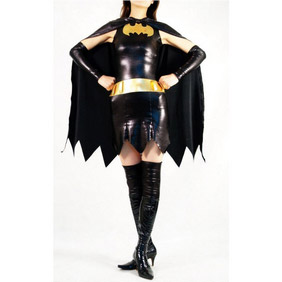 Sexy Black&Golden Lycra Batman Female  Zentai Suit