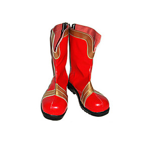 Sakura War  red Patent Cosplay Boots