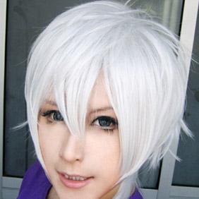 White Black Butler Kuroshitsuji sebastian Michaelis Short Nylon Cosplay Wig