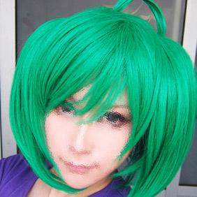Green GUJIAN Feng Qingxue Semi-Long Nylon Cosplay Wig