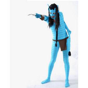 Sexy Blue Lycra Avatar Zentai Suit
