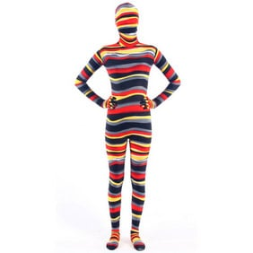 Sexy Mixed Color Lycra Breathable SoftSexy Whole Body  Zentai Suit