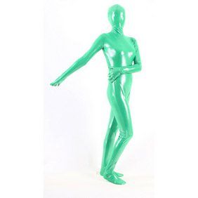 Metallic Blue Breathable Soft Whole Body Zentai Suit