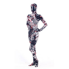 Sexy Mixed Color Lycra Breathable Soft Whole Body Zentai Suit