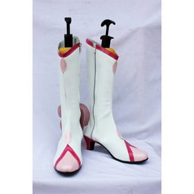 HEARTCATCH PRECURE! Tsubomi White PU Leather Cosplay Shoes