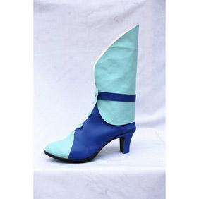 HEARTCATCH PRECURE! Erika Blue PU Leather Cosplay Boots