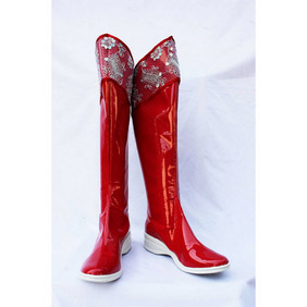 PILI Puppet Huangquan  Red Patent Cosplay Boots