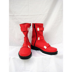 KOF Chris Short PU Leather Cosplay Boots