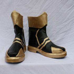 Birth by Sleep BbS、KHBbS Tera golden and Black  PU Leather Cosplay Shoes