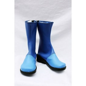 Letter Bee Zazie Blue PU Leather Cosplay Shoes