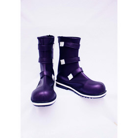 KOF Chries Purple PU Leather Cosplay Shoes