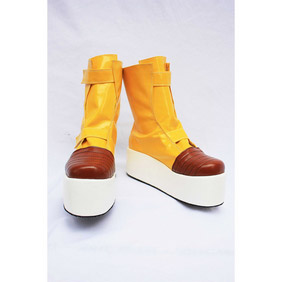 Dragon BallZ DBZ Trunks Yellow Patent Cosplay Shoes