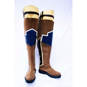Tales of Graces symphony Arstell Brown Suede Cosplay Shoes