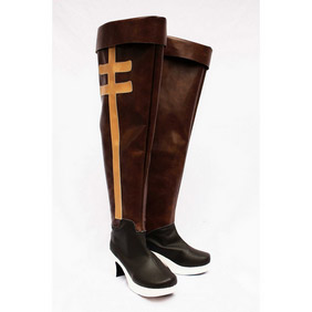 Axis powers Hungary Brown  PU Leather Cosplay Boots
