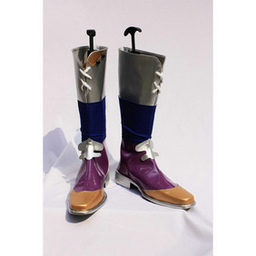 Final Fantasy V FFV Butz Klauser Purple Silver and Brown  Patent Cosplay Boots