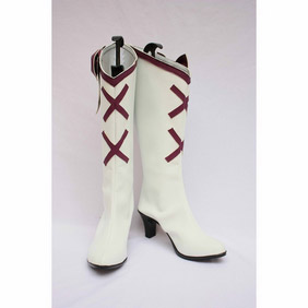 HEART CATCH PRECURE ! Yuri Tsukikage White Cosplay Boots