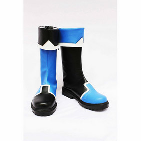 Touhou Project Morichika Rinnosuke Black and Blue PU Leather Cosplay Boots