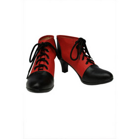 Black Butler Kuroshitsuji Grell Sutcliff Red and Black PU Leather Cosplay Shoes