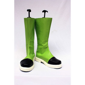Dragon Ball Artificial person number 16(NO.16) Green PU Leather Cosplay Boots