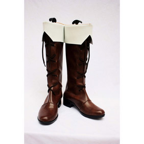 Axis powers Finland Brown  PU Leather Cosplay Boots
