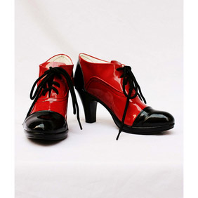 Black Butler Kuroshitsuji Grell Black and Red Patent Cosplay Shoes