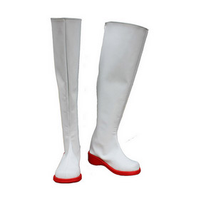 Umineko no Naku Koro ni Sister White PU Leather Cosplay Boots
