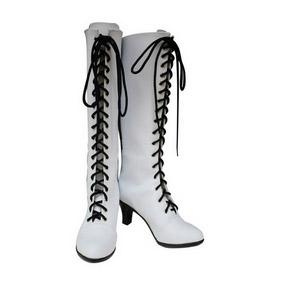 Black Butler Kuroshitsuji Angelina White PU Leather Cosplay Boots