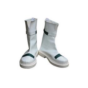 PUELLA MAGI MADOKA Nanoha Takamachi White PU Leather Cosplay Boots