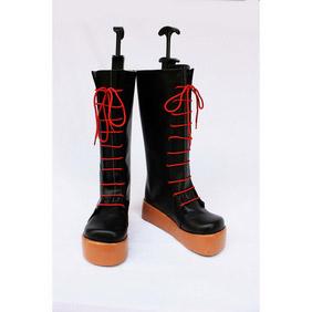Danzai no Maria Black Cosplay  PU Leather Shoes