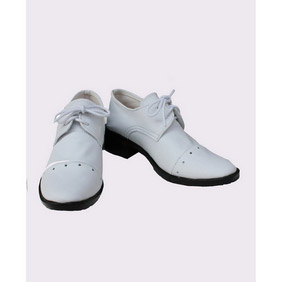 Black Butler Kuroshitsuji Baron White PU Leather Cosplay Shoes