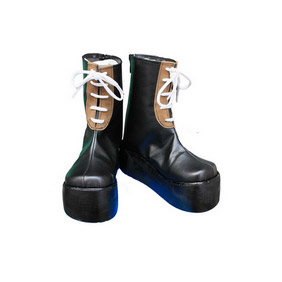 CROSSGATE Black PU Leather Cosplay Shoes