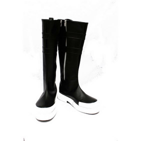 D.Gray-man Ravi Second Black PU Leather Cosplay Shoes