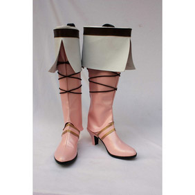 Lineage online Fairy Pink PU Leather Cosplay Boots