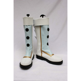 Half  White PU Leather Cosplay Boots