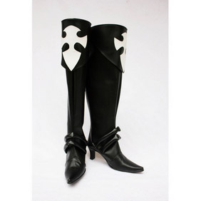 Long Black PU Leather Cosplay Boots
