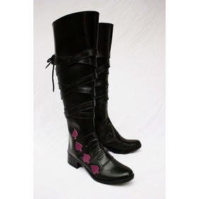 Katekyo Hitman Reborn D·Spade Black PU Leather Cosplay Boots