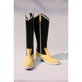 PUELLA MAGI MADOKA MAGICA Mami Tomoe Black PU Leather Cosplay Boots